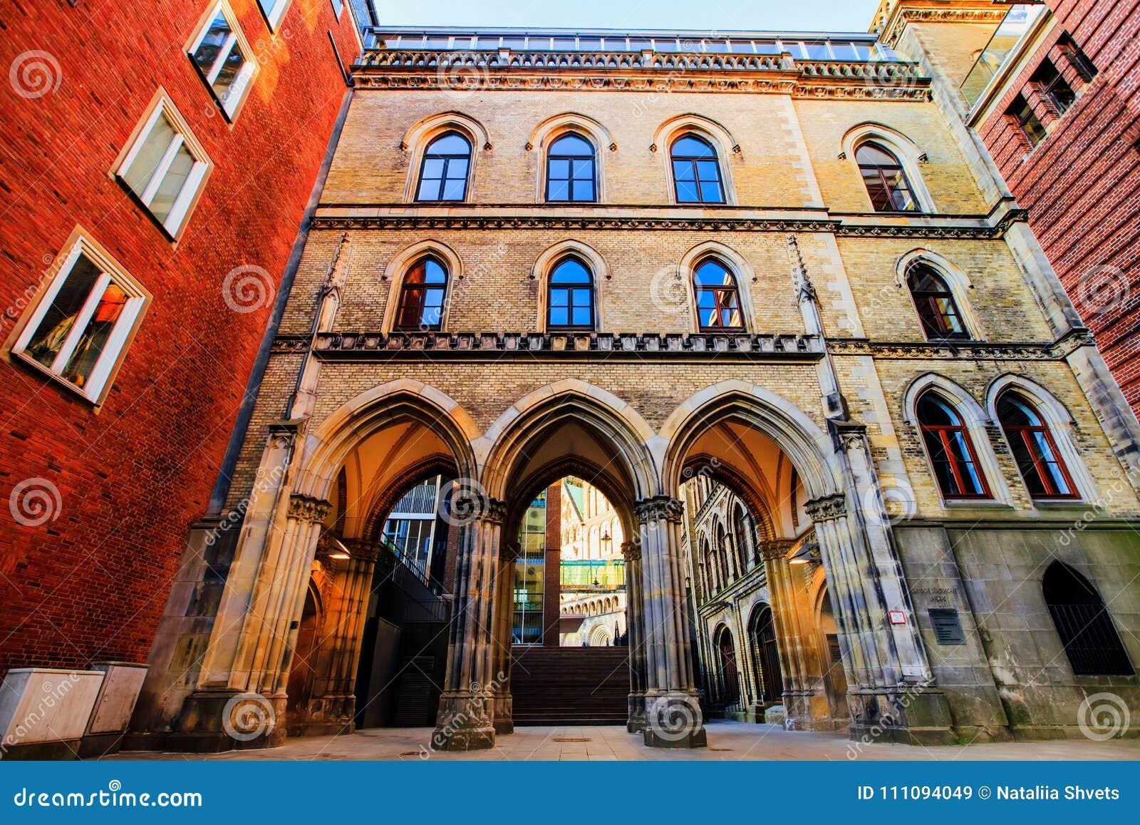 Ulicy i budynki stary Bremen