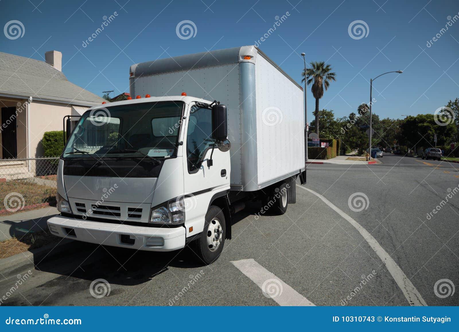 Ulicy poruszająca ciężarówka