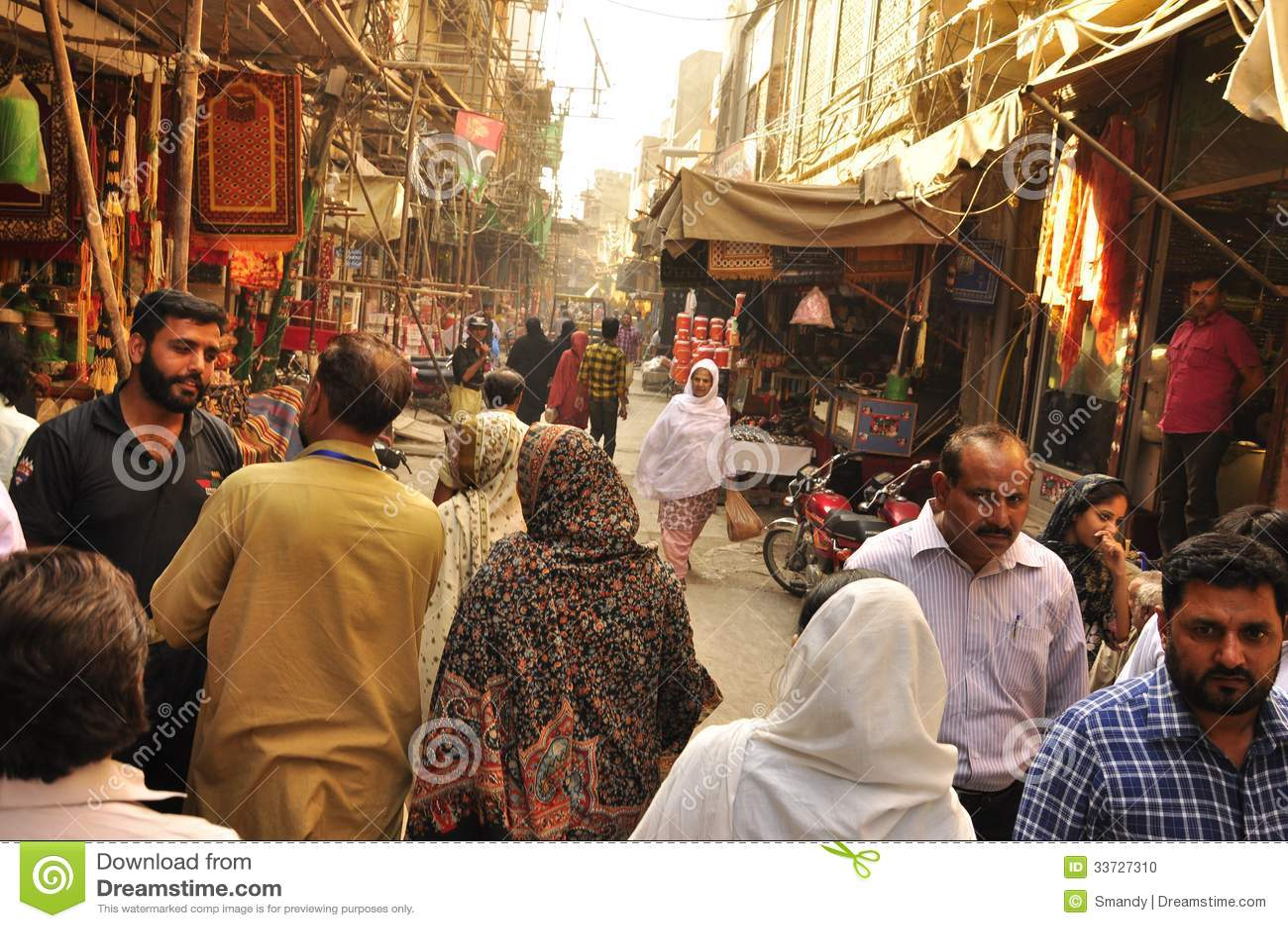 Ulicy stary miasto Lahore