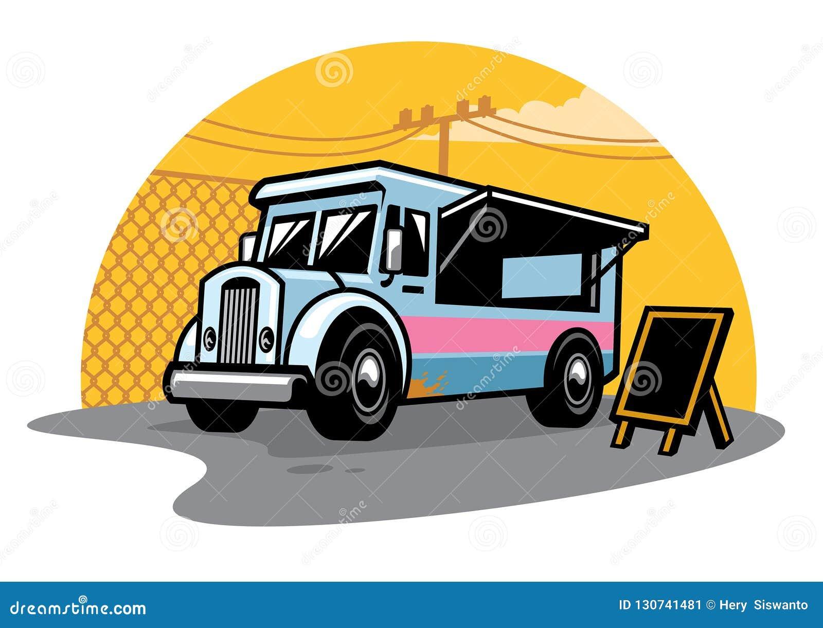Uliczna jedzenie ciężarówka