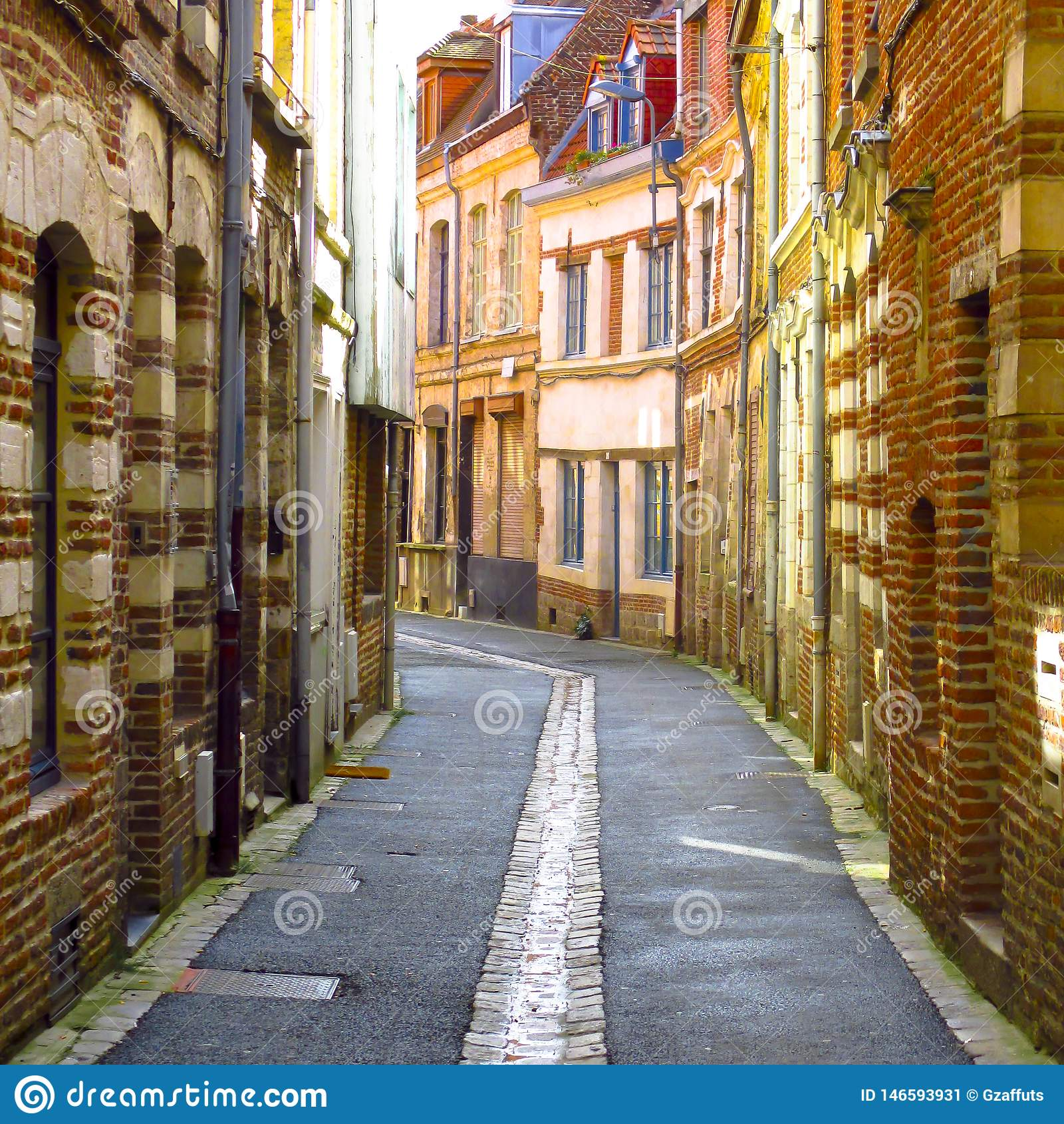 Uliczna scena w Lille, France