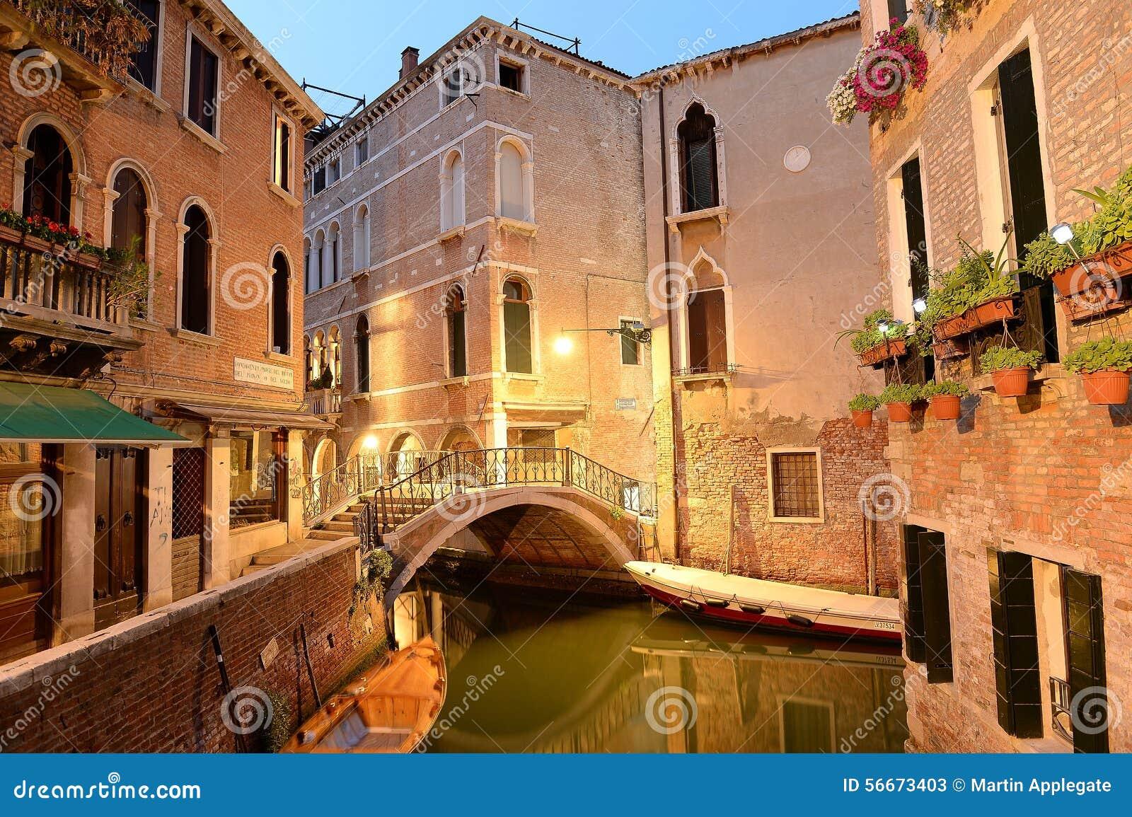 Uliczna scena w Wenecja, Włochy