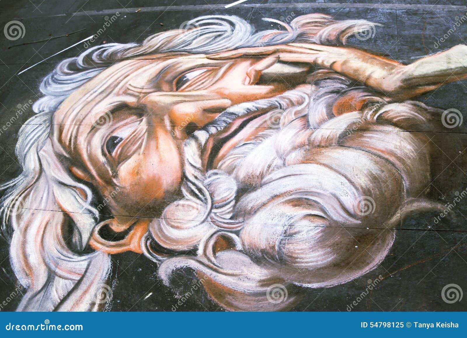 Uliczni artyści rysują obrazki dalej Przez Del Corso