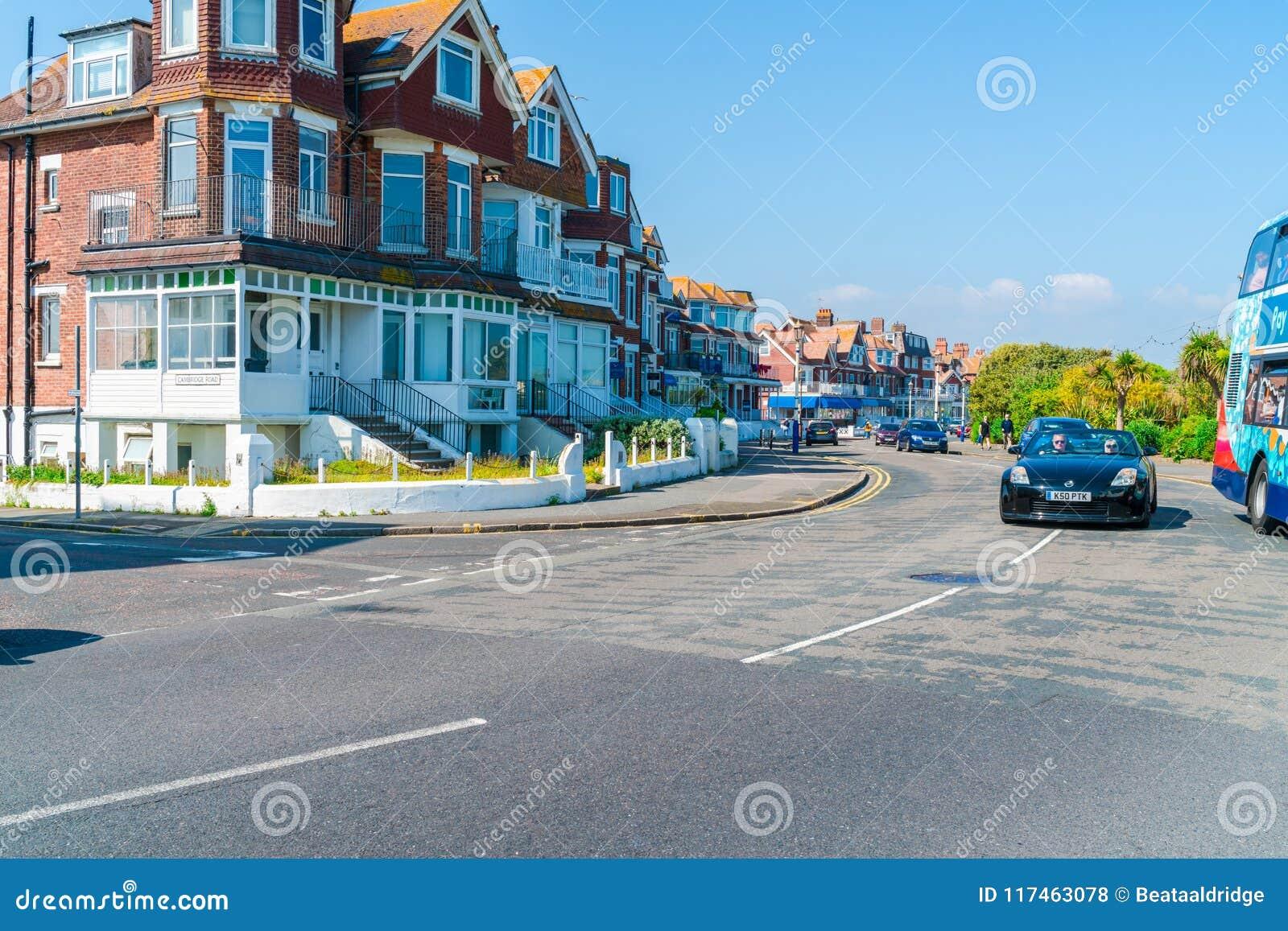 Uliczny widok w Eastbourne, Wschodni Sussex, UK