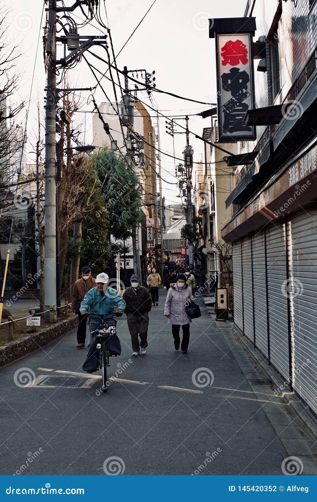 Uliczny ?ycie w Tokio