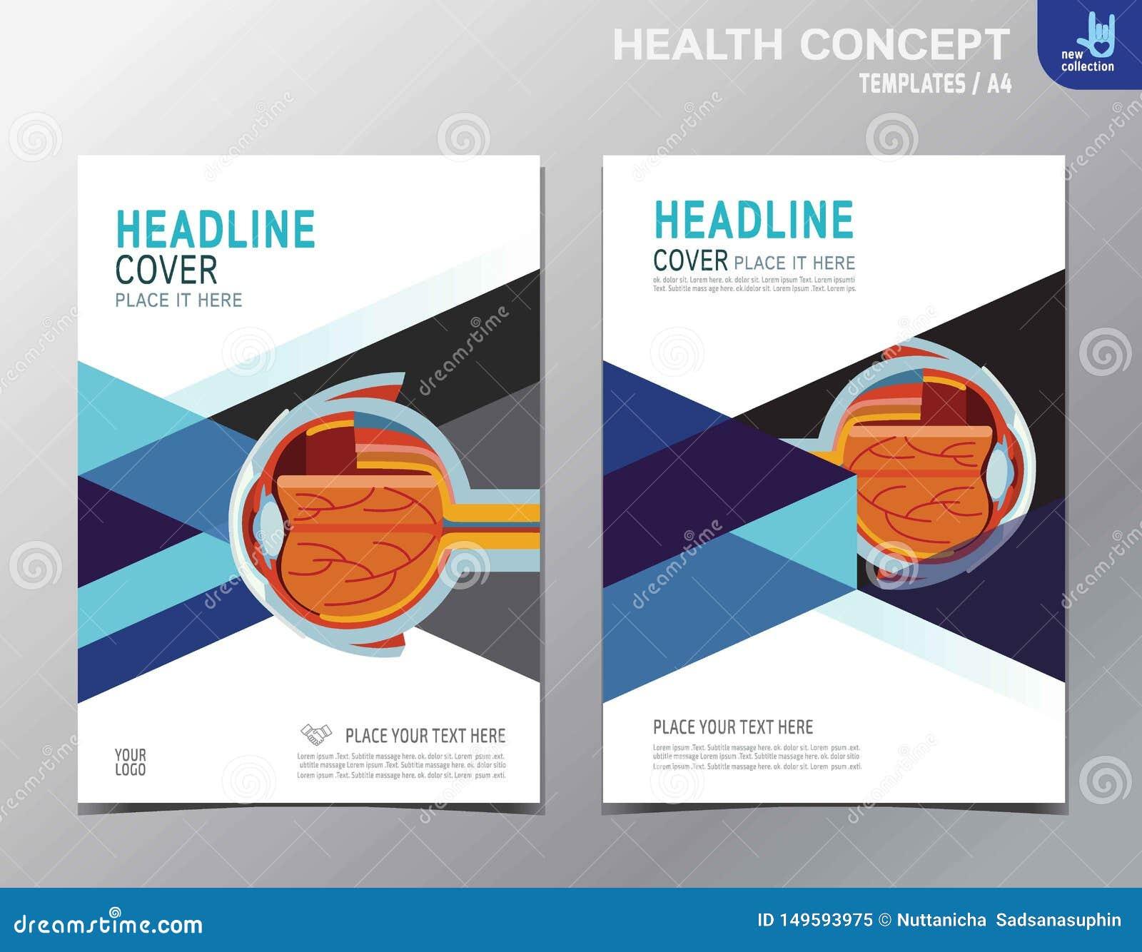 Ulotek zdrowie ulotki broszurki szablonu A4 rozmiaru projekt