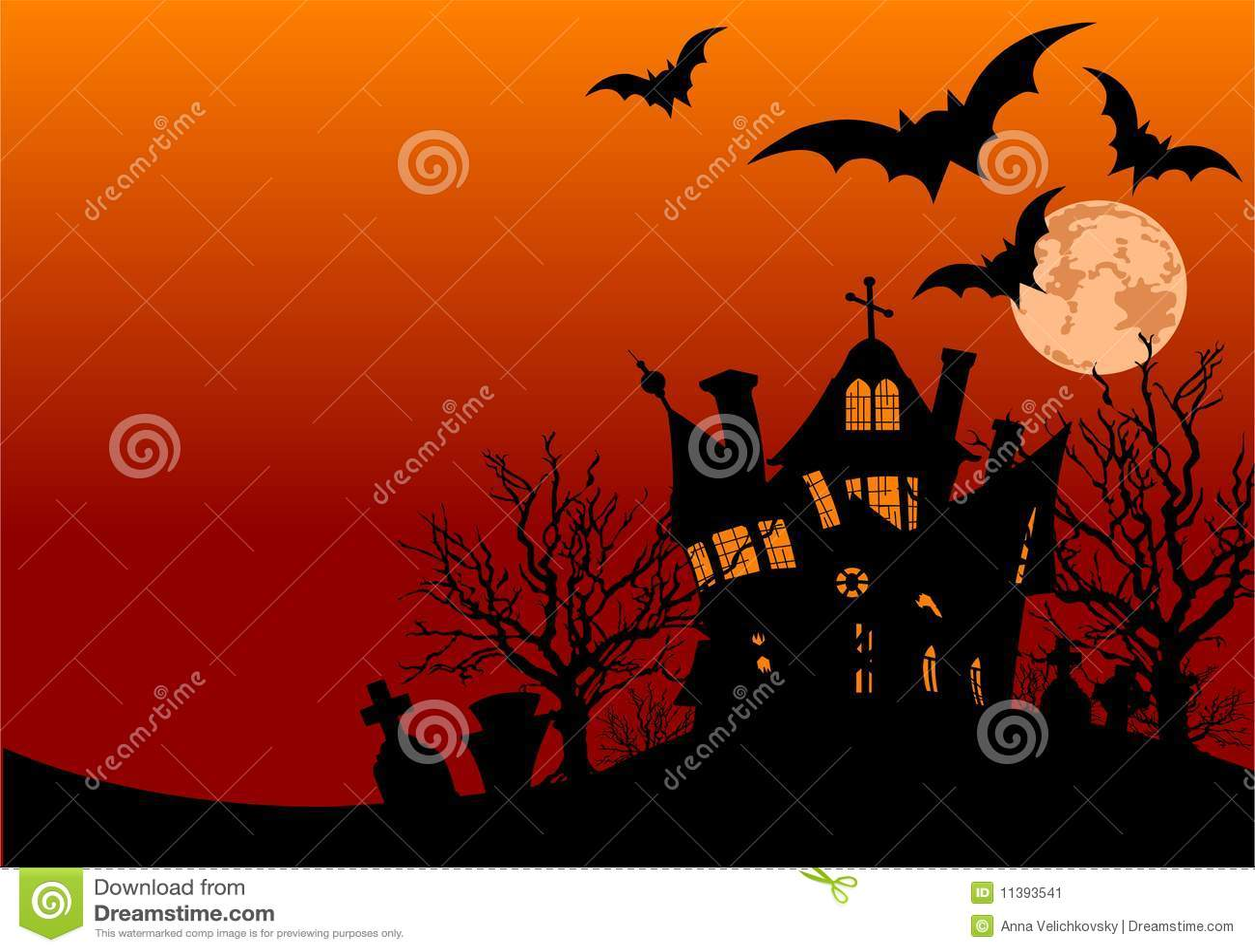 Ulotki Halloween dom