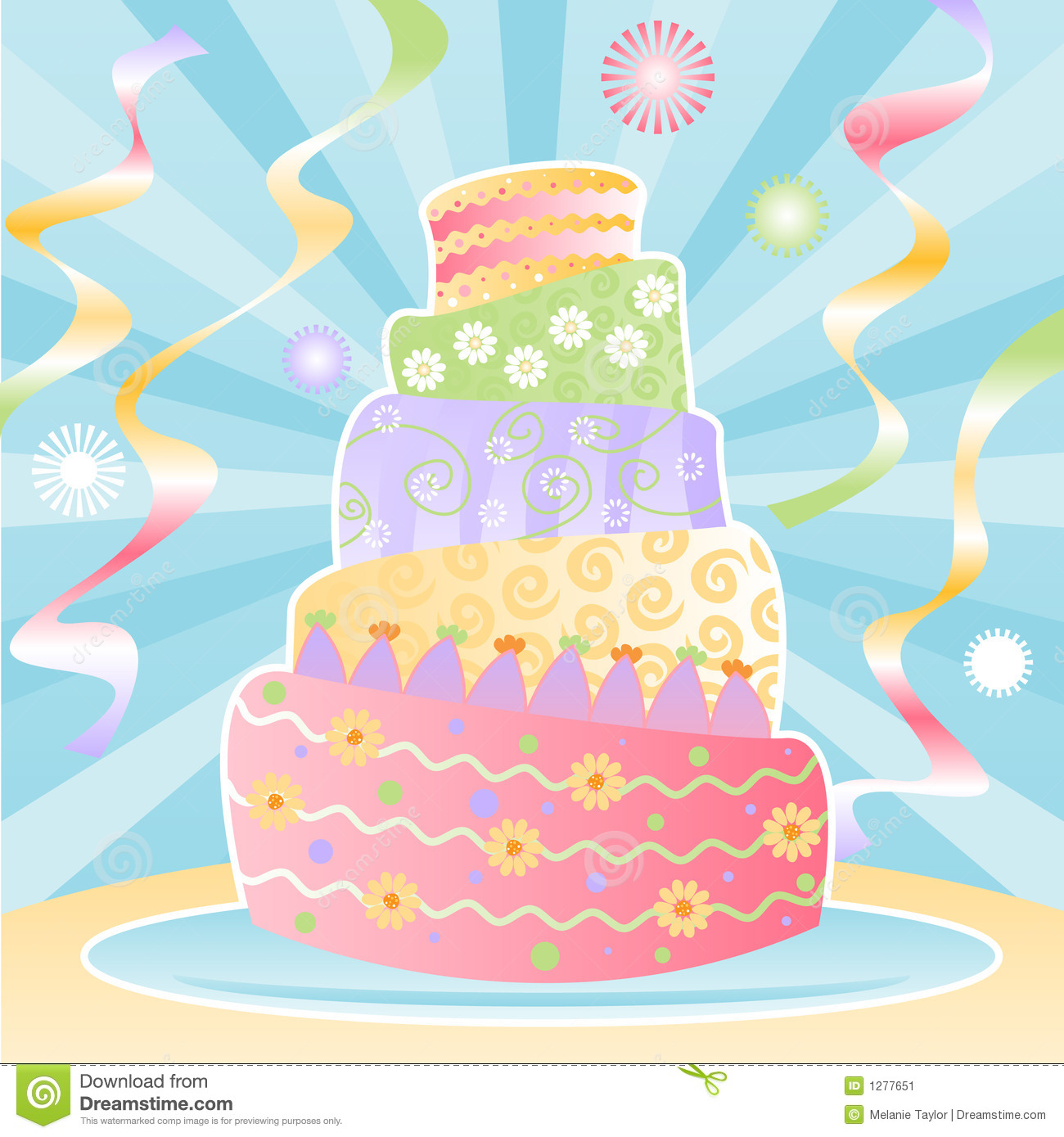 Magnificent Ultimate Birthday Cake Stock Vector Illustration Of Tier 1277651 Personalised Birthday Cards Paralily Jamesorg