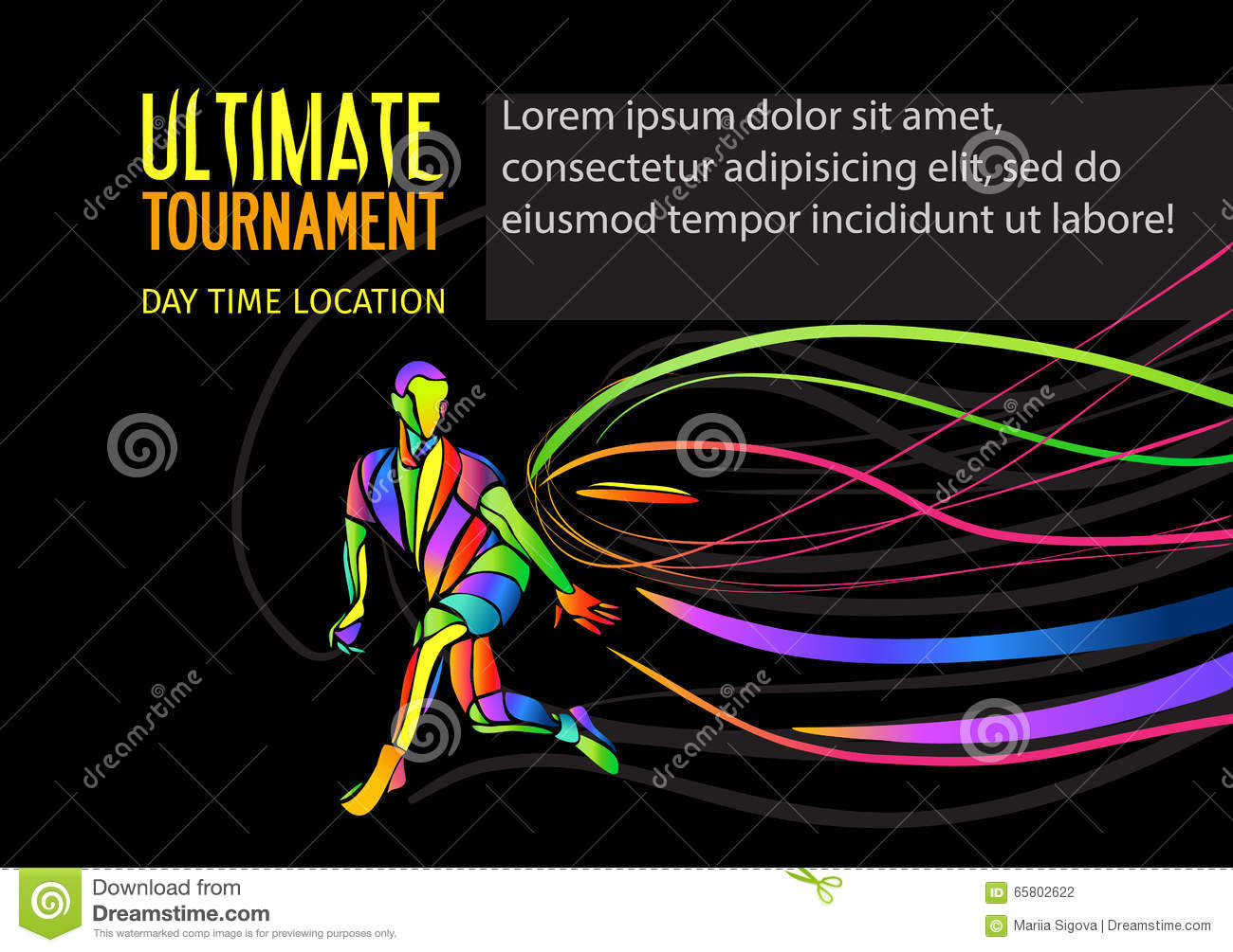ultimate sport invitation poster or flyer background with empty
