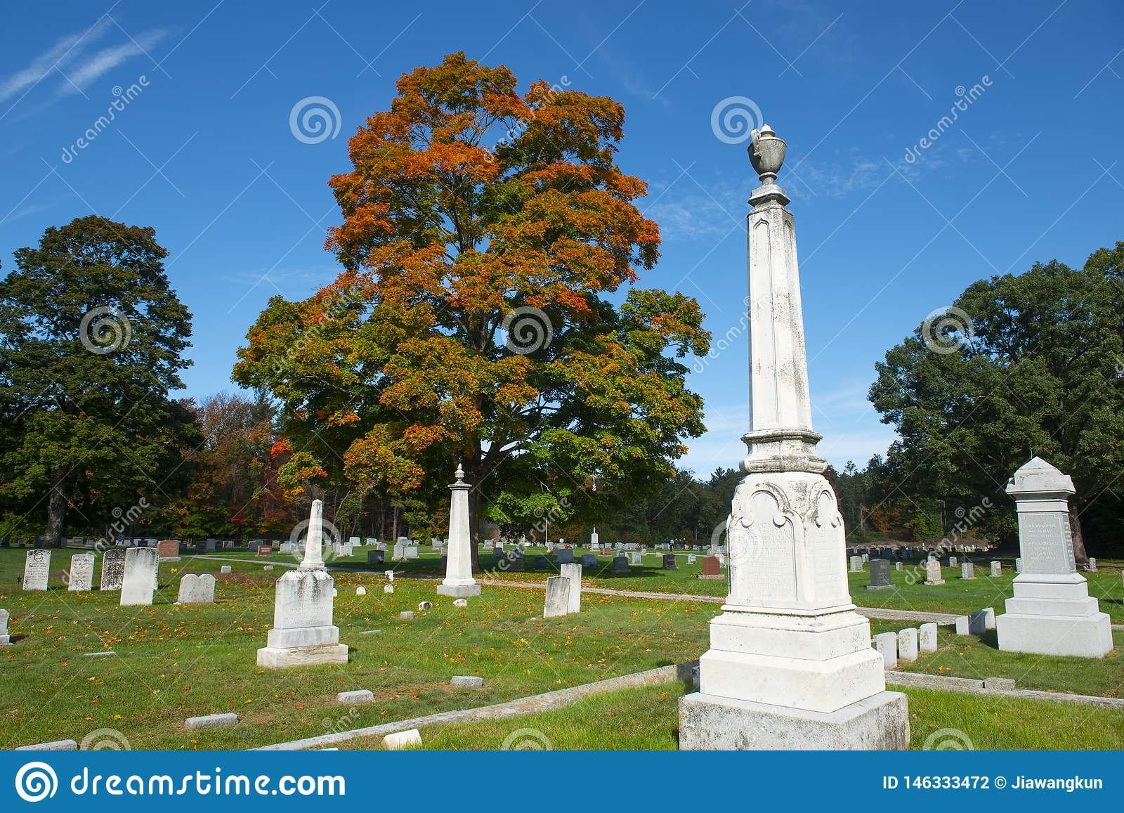 Ultimo cimitero di resto in Merrimack, NH, U.S.A.
