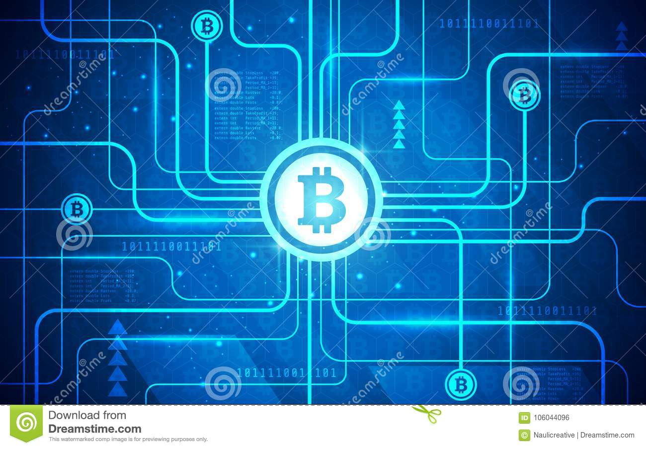 Ultra HD Abstract Circuit Board Bitcoin Technology Background ... on