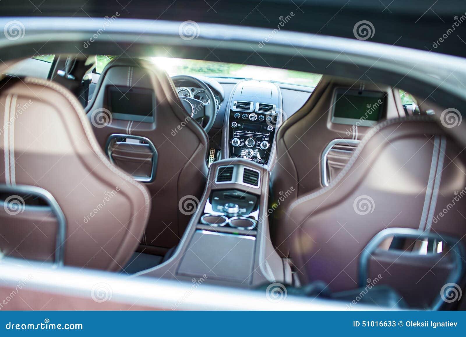 Ultra Luxury Sport Car (Interior) II Editorial Stock Photo - Image