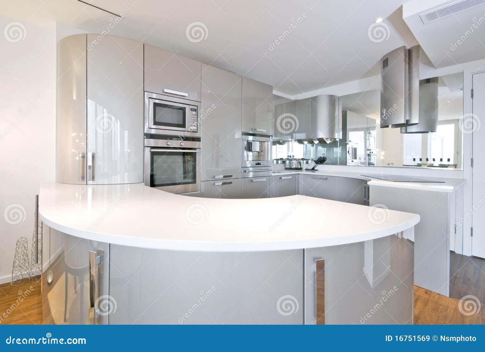 ultra modern designer kitchen royalty free stock images. Black Bedroom Furniture Sets. Home Design Ideas