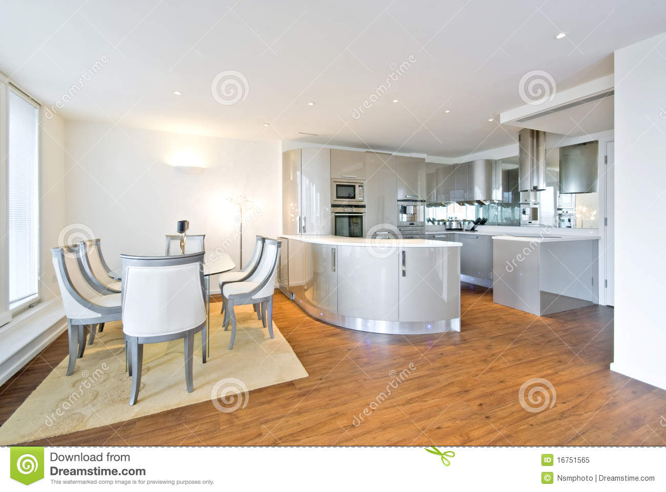 Ultra modern designer kitchen with dining area stock image - Cuisine ultra design ...