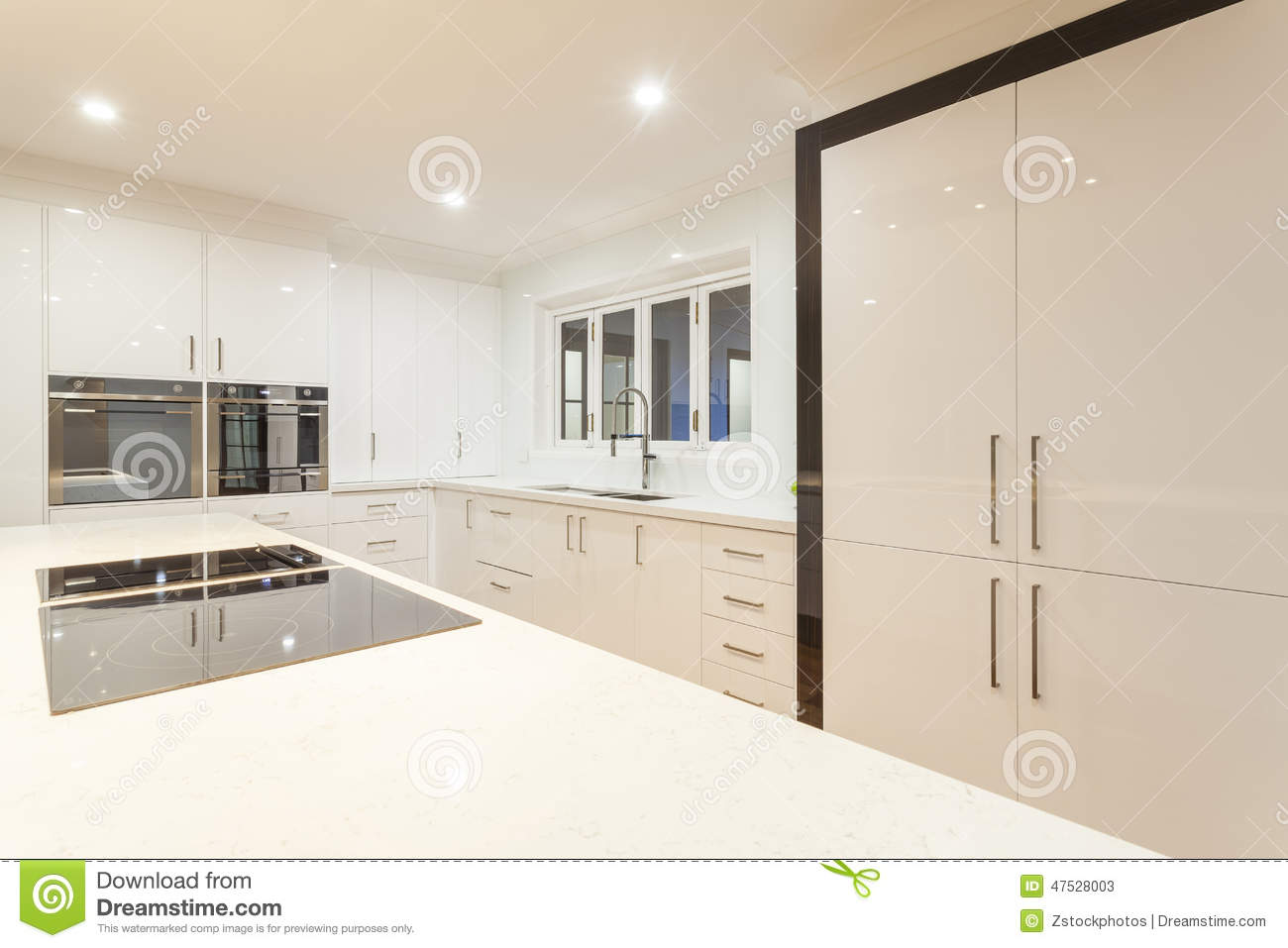 Ultra Modern Kitchen Stock Image Image Of Indoors Marble 47528003