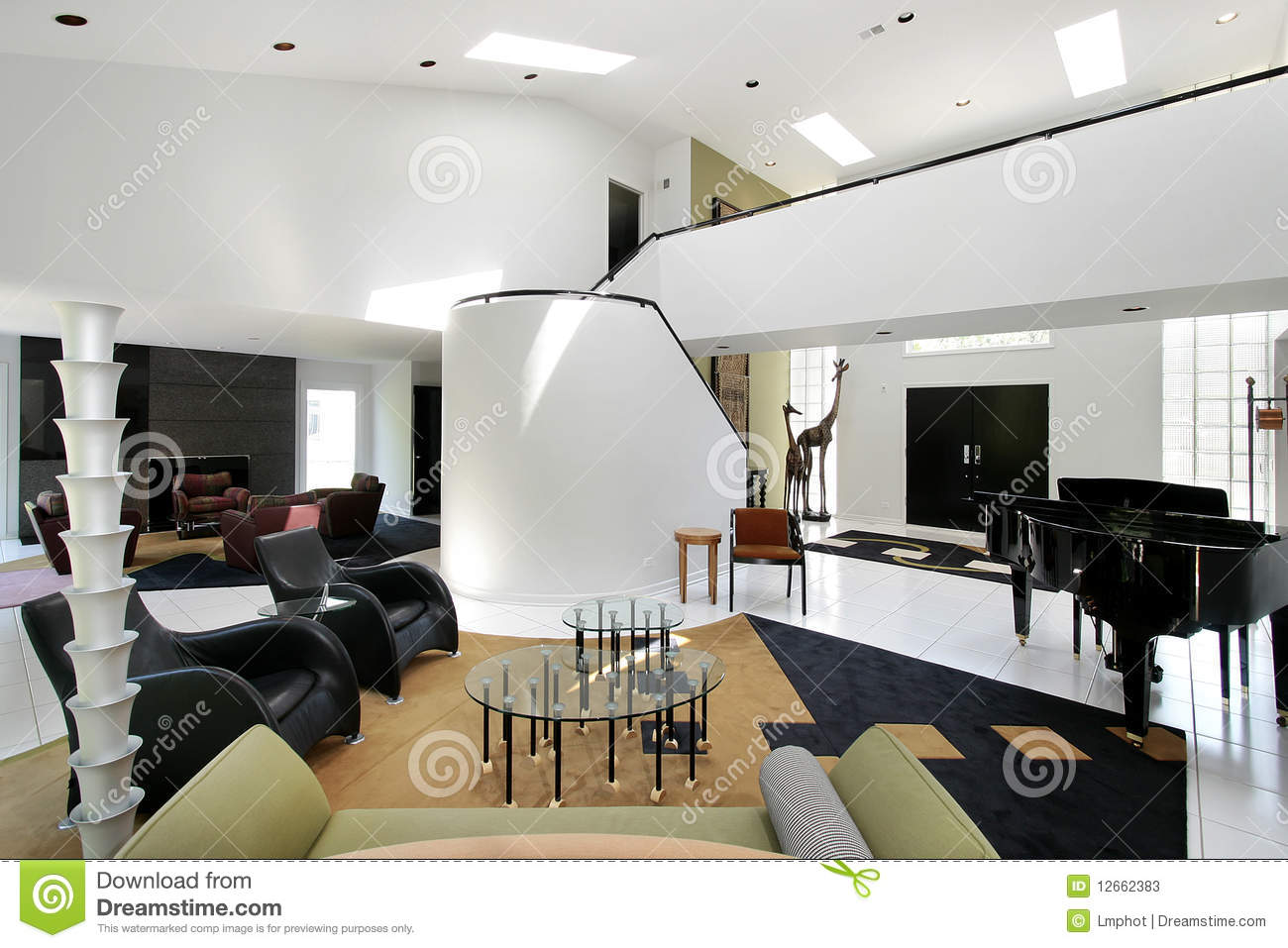 Ultra Modern Living Room ultra modern living room stock photos - image: 12662383