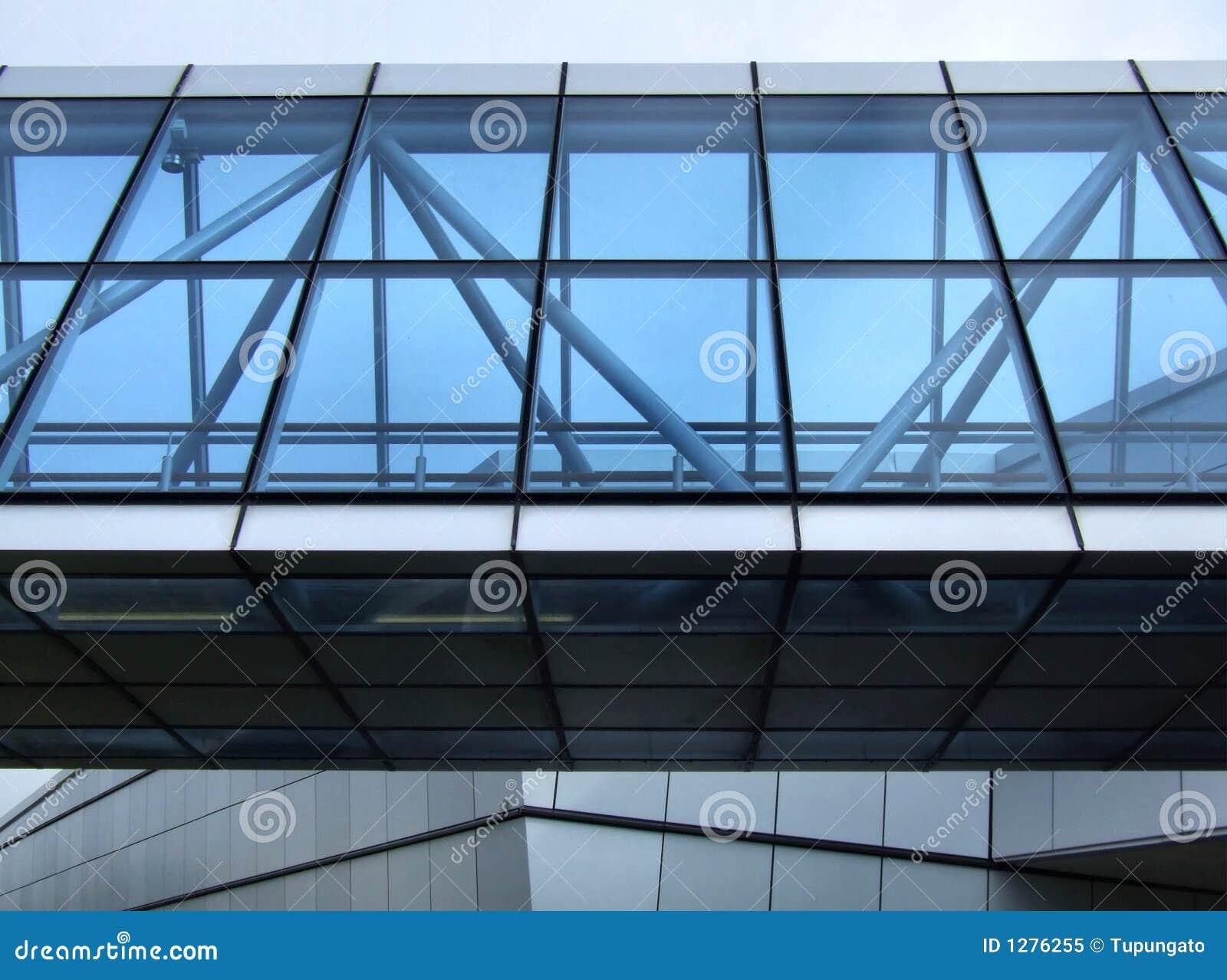 Bureau Ultra Moderne : Ultra moderne gang in de stad stock afbeelding afbeelding