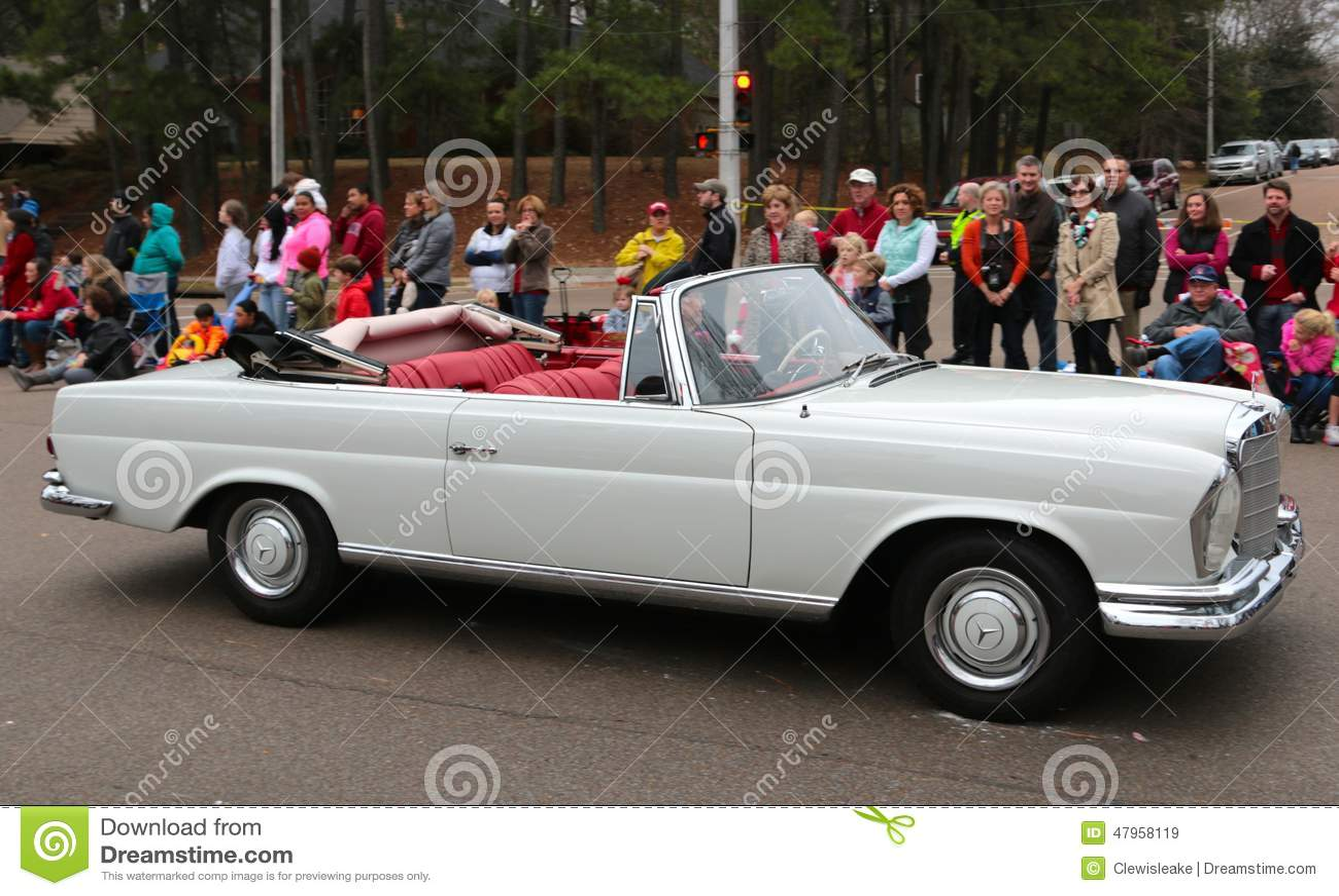 Mercedes Christmas Parade 2019 Mercedes Benz Convertible Automobile Editorial Stock Image   Image