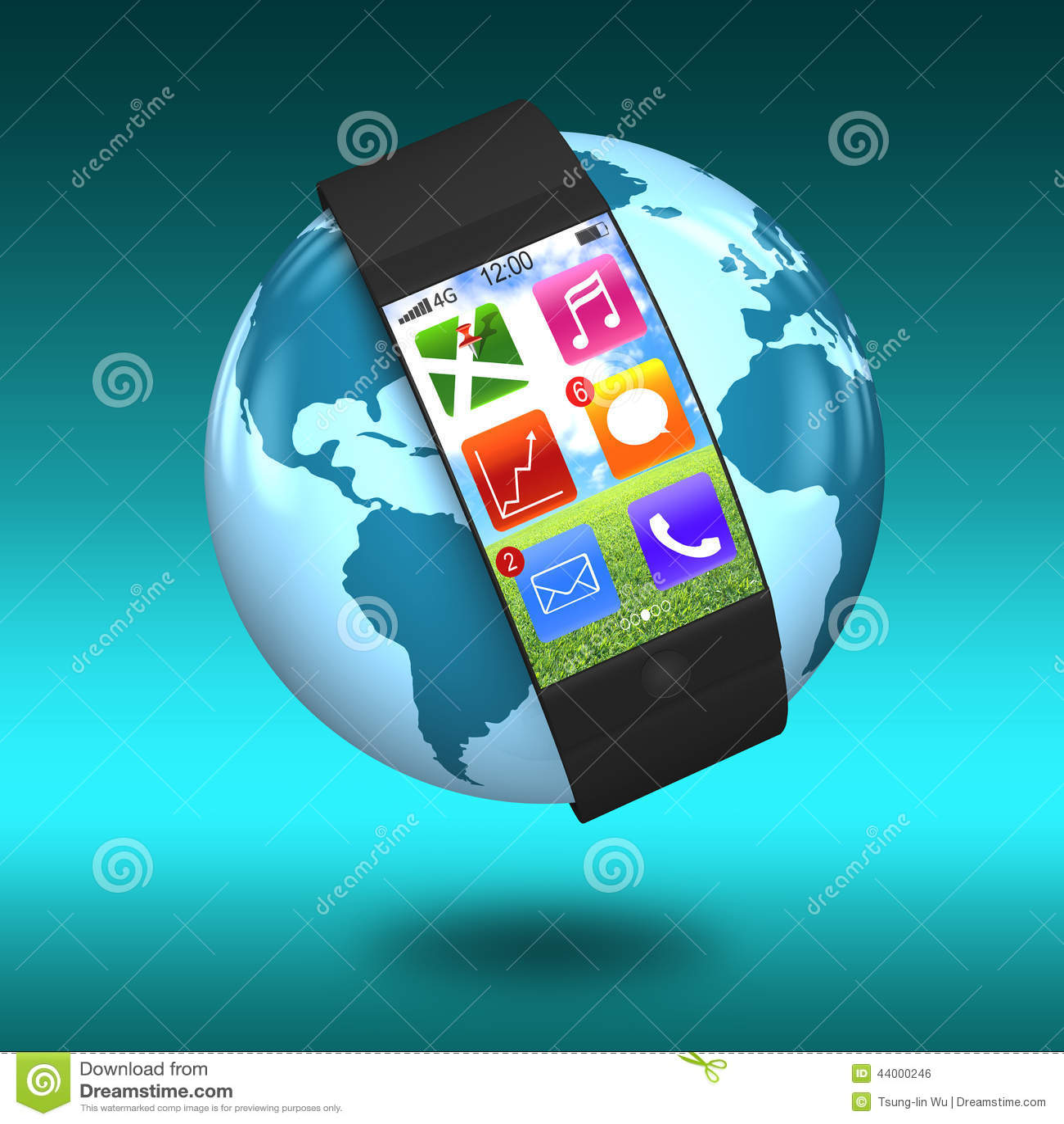 Ultra slanke gebogen interface smartwatch met apps ter wereld