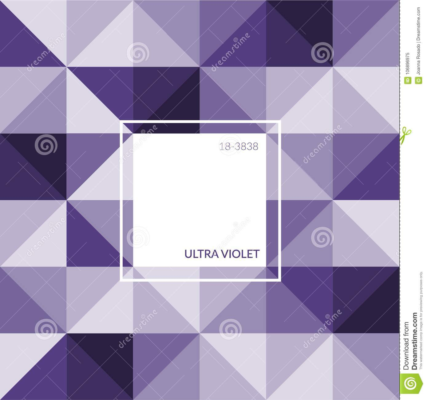 ultra violet color of the year 2018 label logo sign symbol card