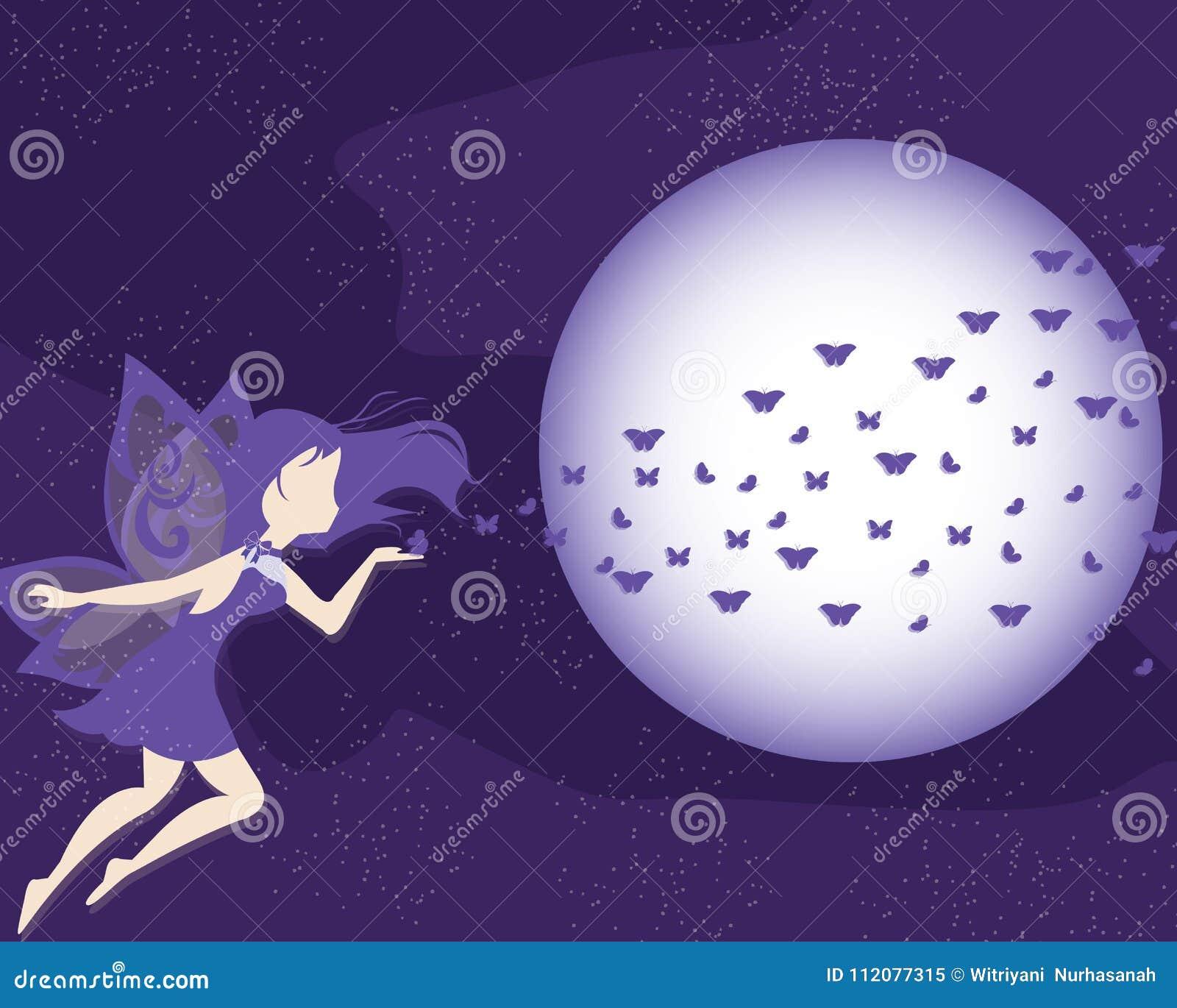 Ultra violet purple fairy vector background