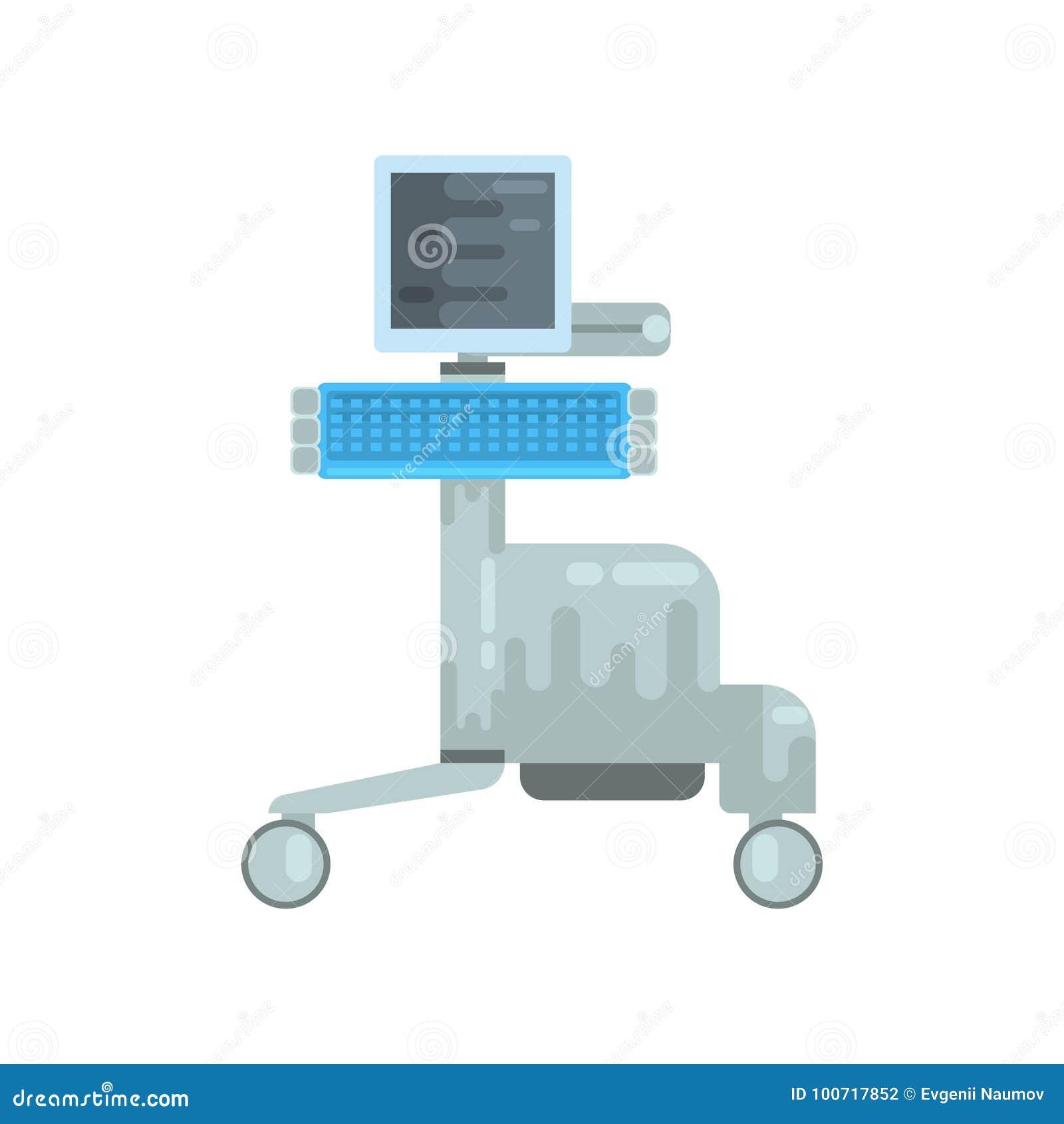 Ultrasone klank kenmerkende machine, medische apparatuur vectorillustratie