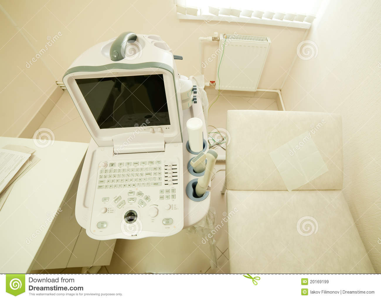 Ultrasound equipment in medical clinic