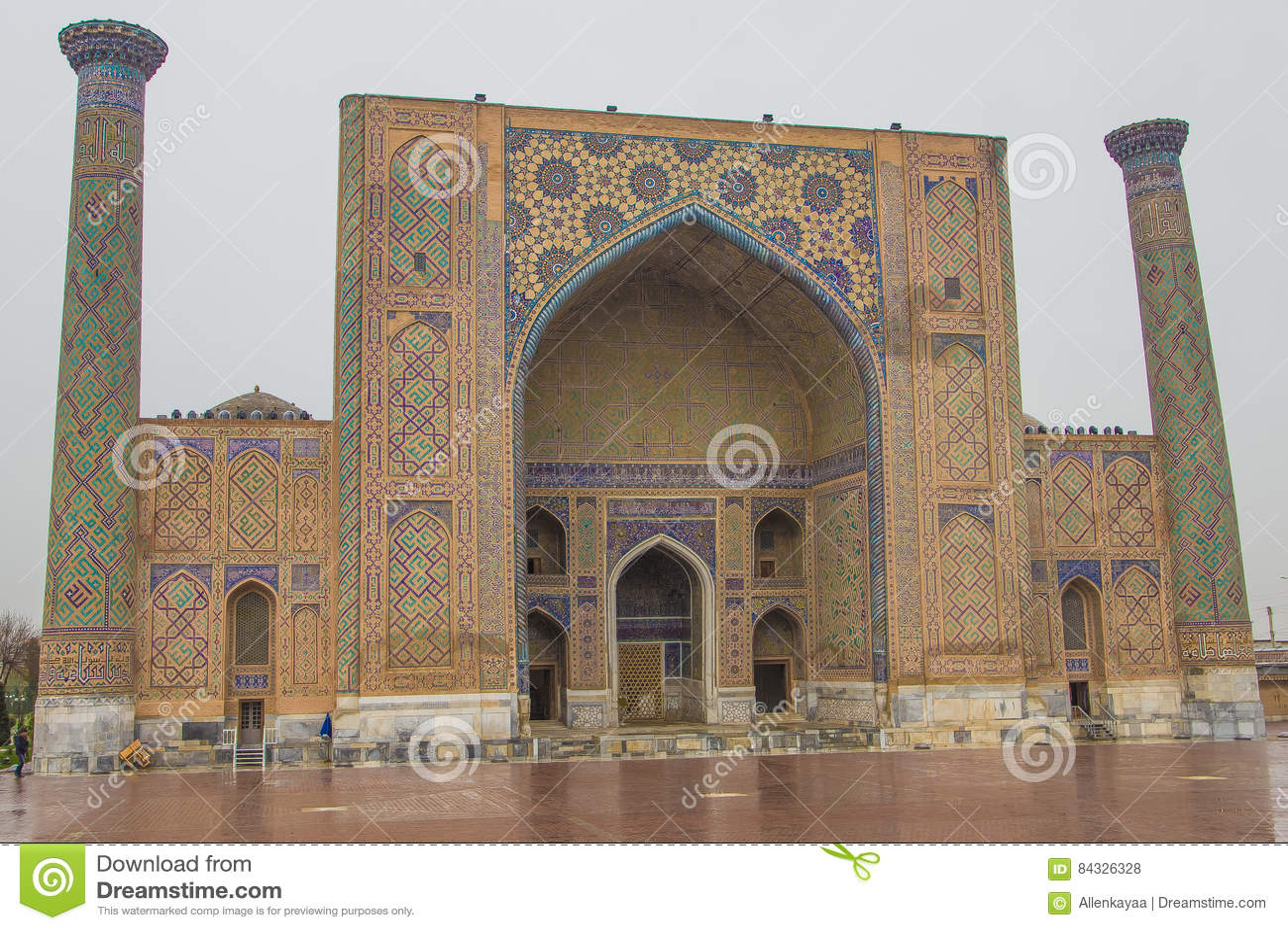 Ulu Beg Madrasah Sul Quadrato Di Registan, Samarcanda, L ...