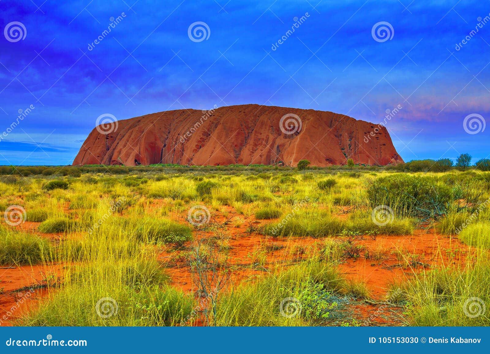 Uluru Ayers Rock red massive in Australia