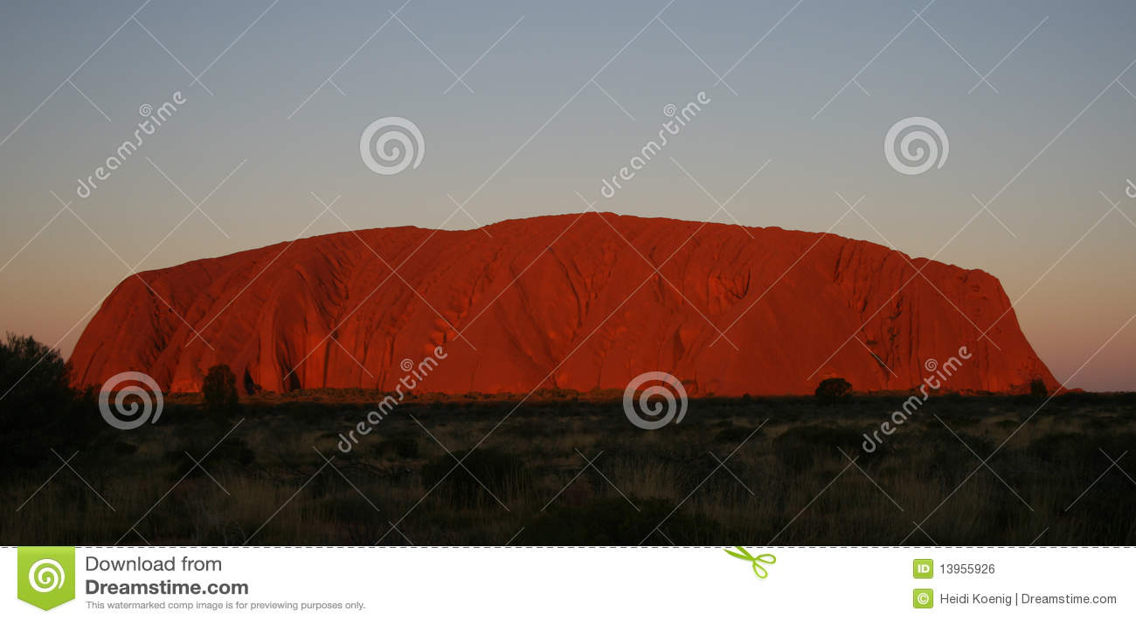Uluru Ayers Rock at Sunset