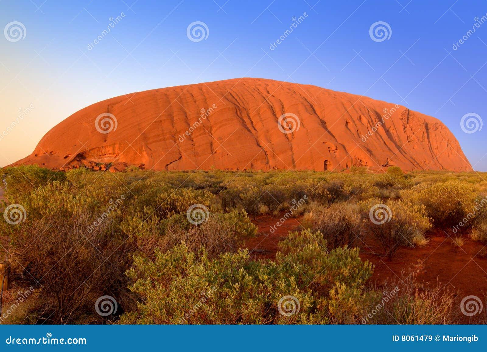 Uluru, Rots Ayers, bij zonsopgang