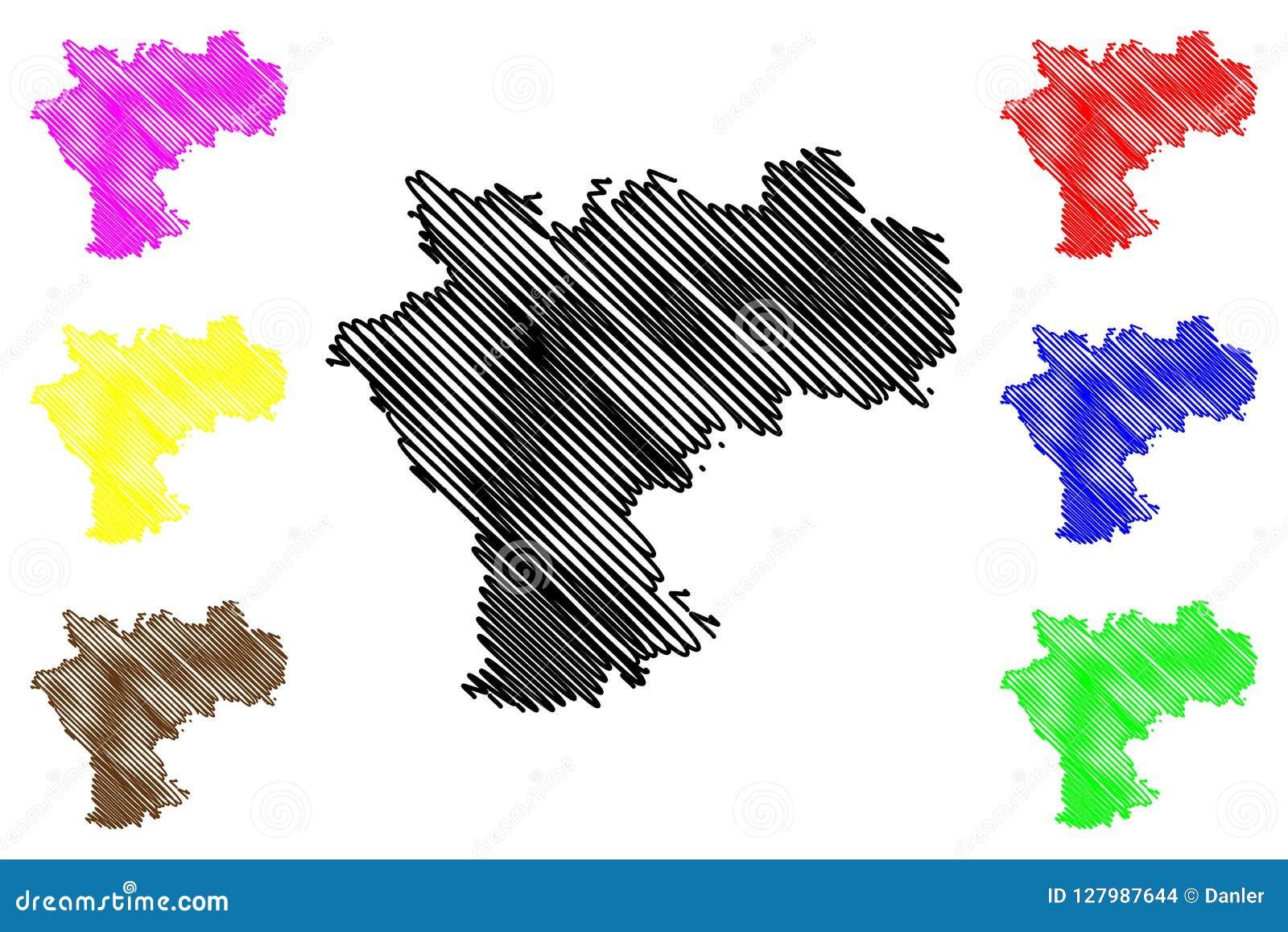 Ulyanovsk Oblast Map Vector Stock Vector - Illustration of outline ...