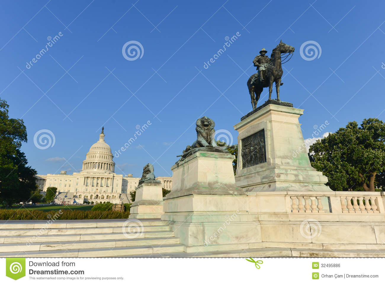Royalty free stock image ulysses s grant cavalry memorial in front