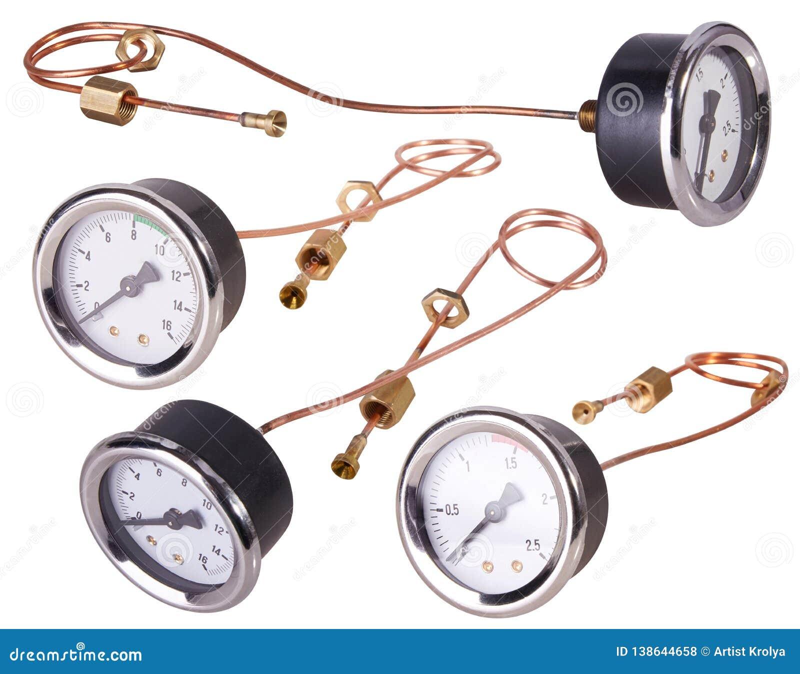 Um calibre de pressão Jogo de medição da pressão da barra