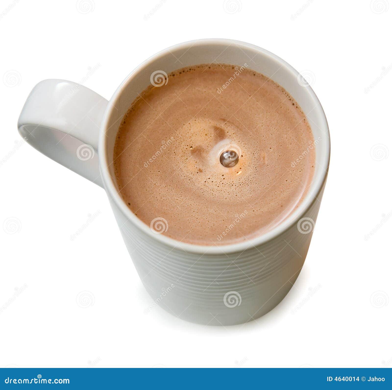 Um copo do chocolate quente