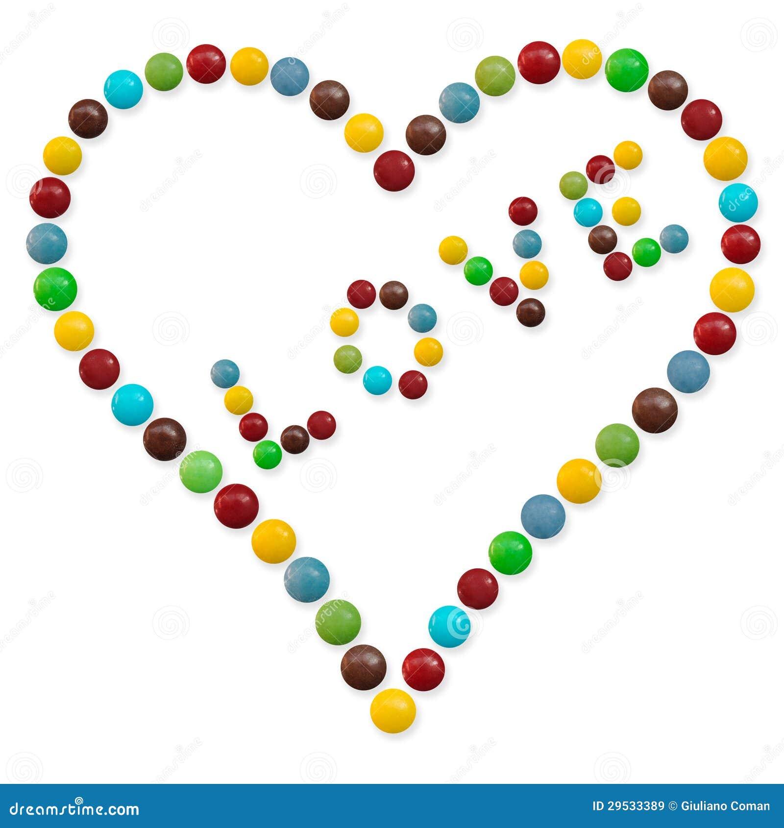 Um coração dos doces