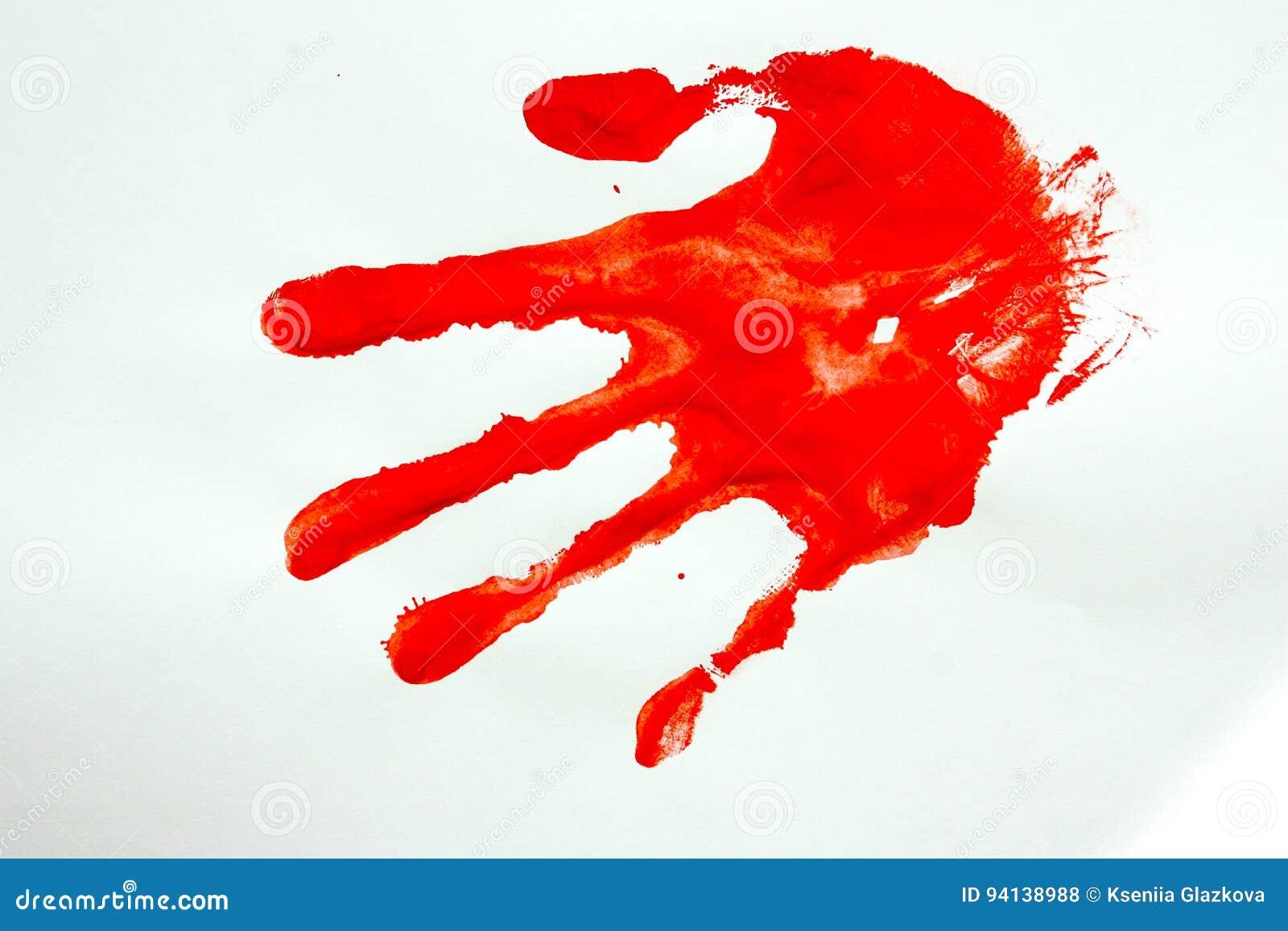 Um crime assassinato Impressão da mão