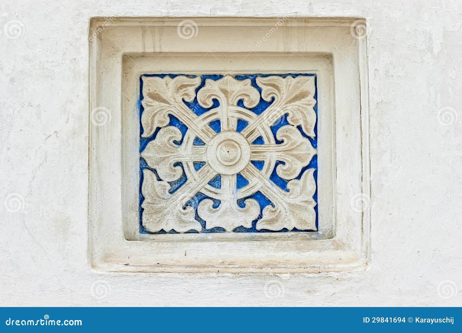 Detalhe da janela do monastério de Lavra em Kiev