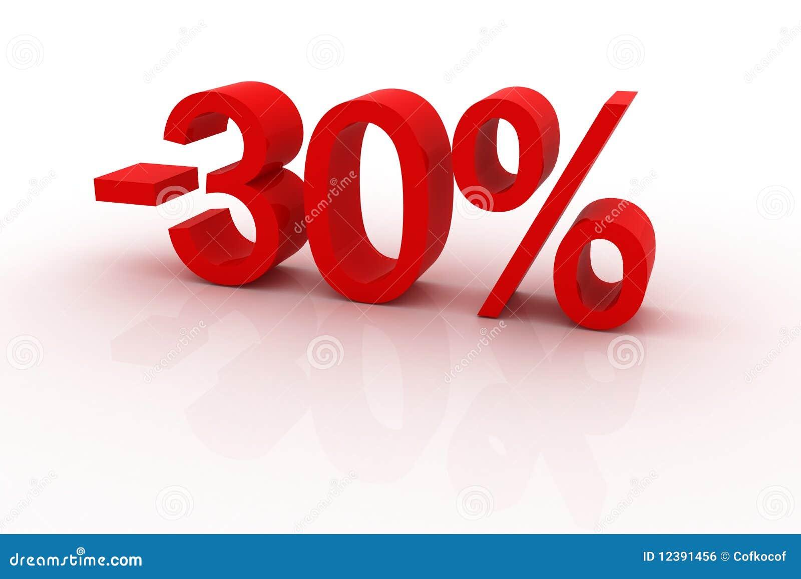 Um disconto de 30 por cento