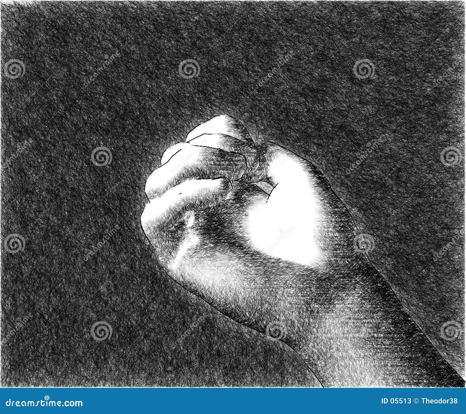 Um esboço da mão