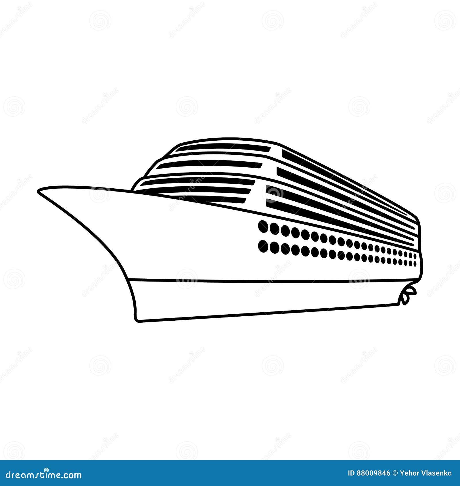 Um forro enorme do cruzeiro Veículo para viajar sobre distâncias longas a um grande número de povos Transporte do navio e da água