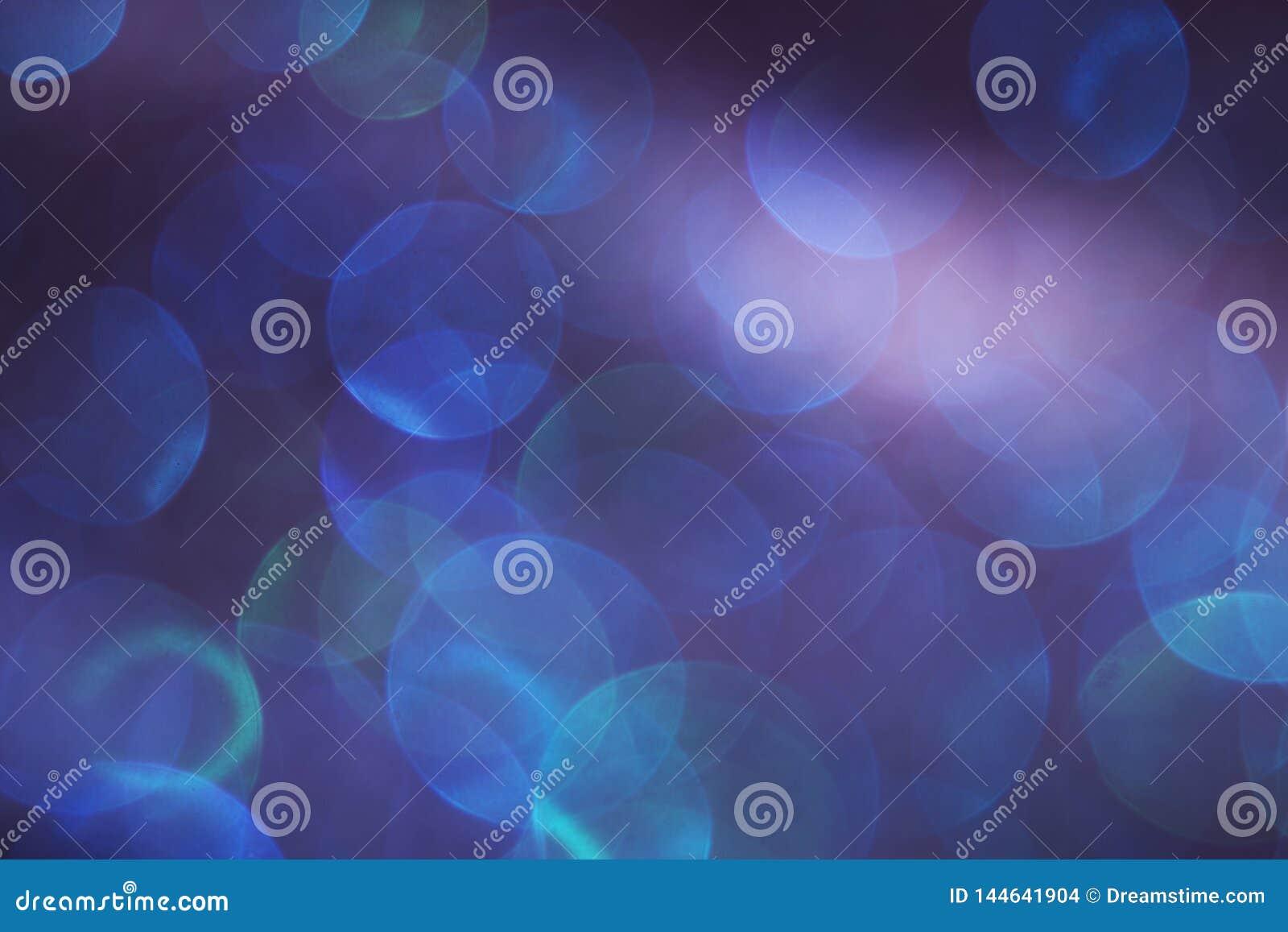 Um fundo abstrato de luzes do bokeh