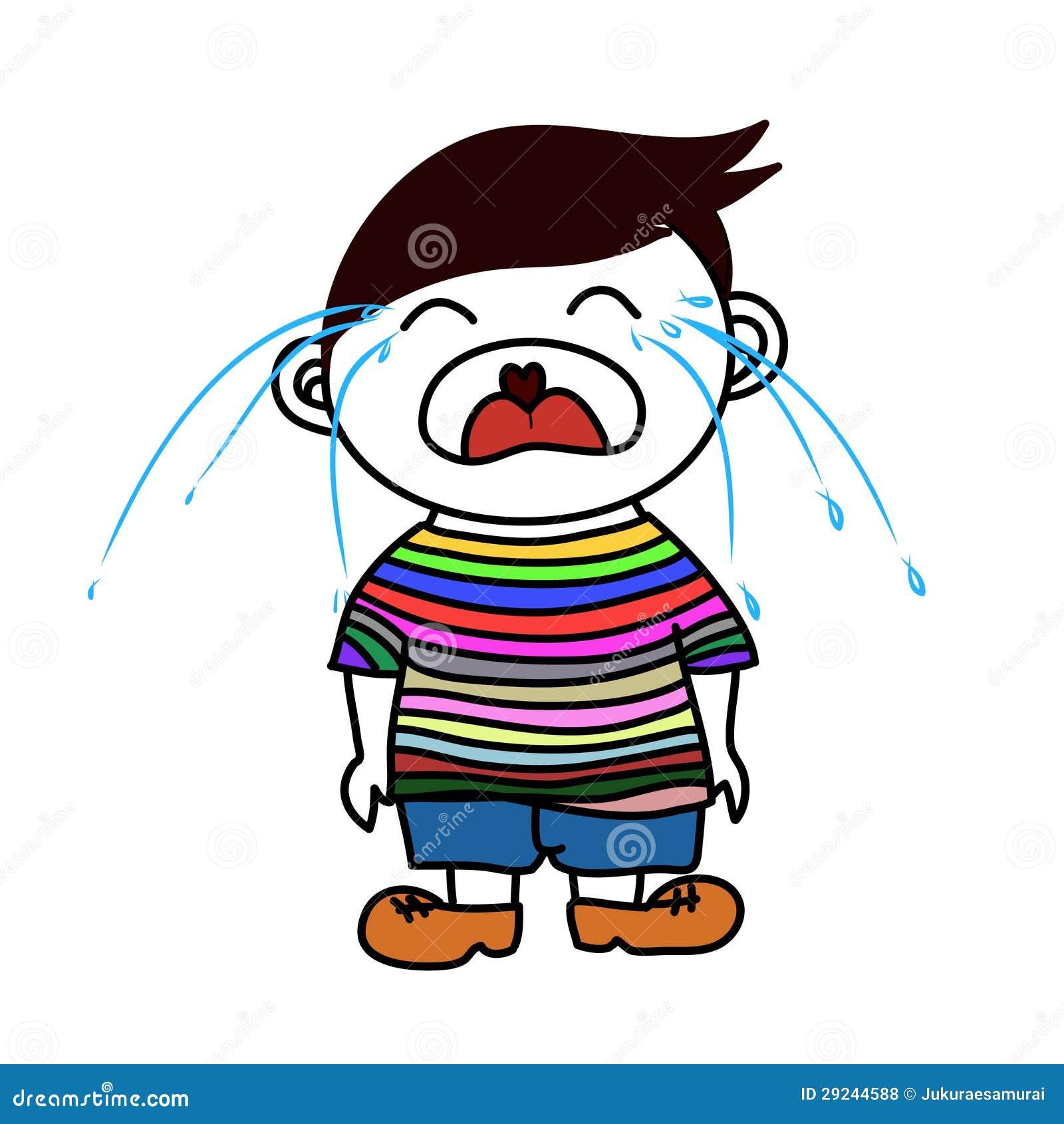 Download Um grito do menino ilustração do vetor. Ilustração de menino - 29244588