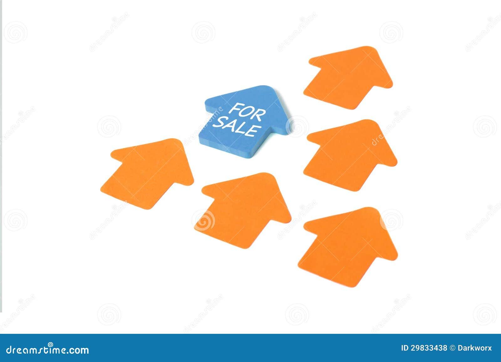 Casa para o post-it da venda