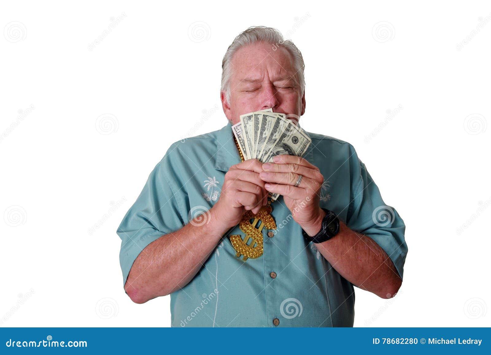 Um homem com dinheiro Um homem ganha o dinheiro Um homem tem o dinheiro Um homem aspira o dinheiro Um homem ama o dinheiro Um hom
