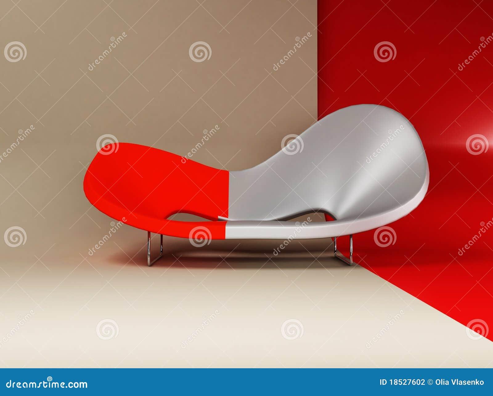Um interior moderno com um sofá