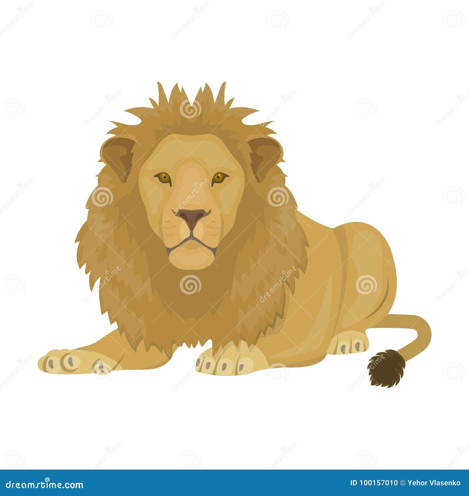 Um Leao Um Predador Selvagem E Feroz O Leao O Rei De Animais