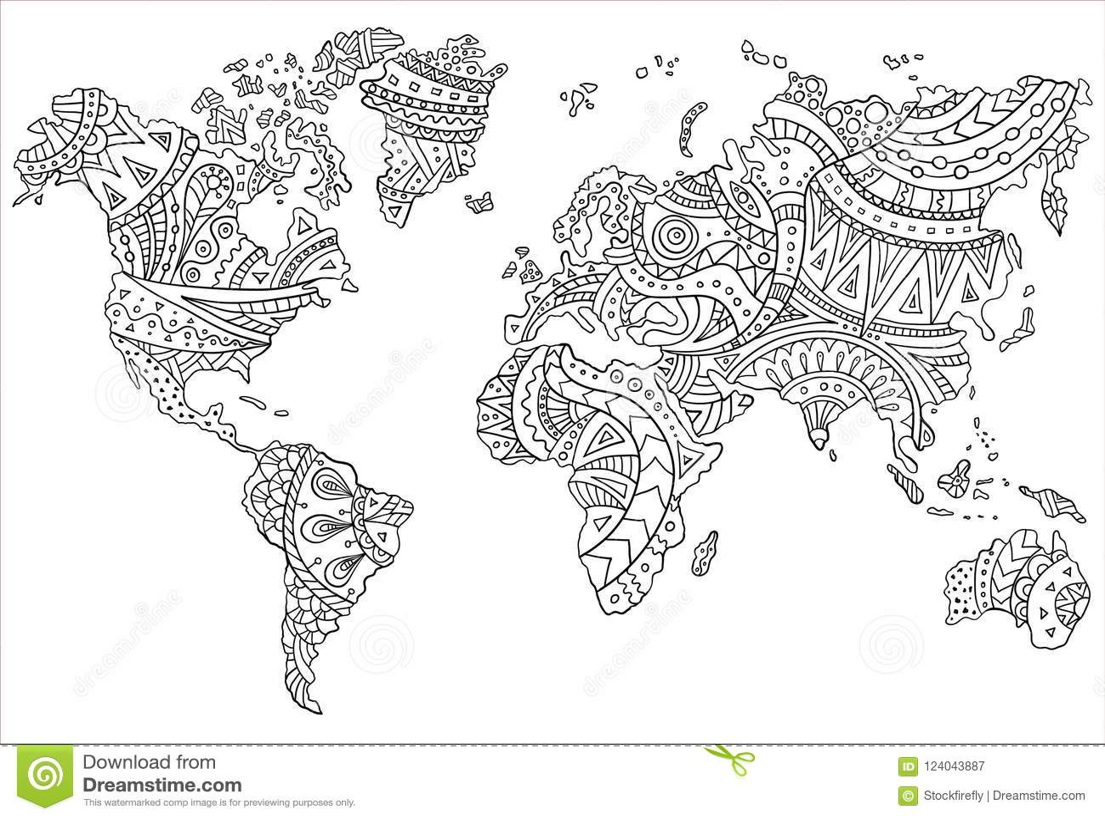 Um Mapa Pintado Do Mundo Ilustracao Vetorial Ilustracao Do Vetor