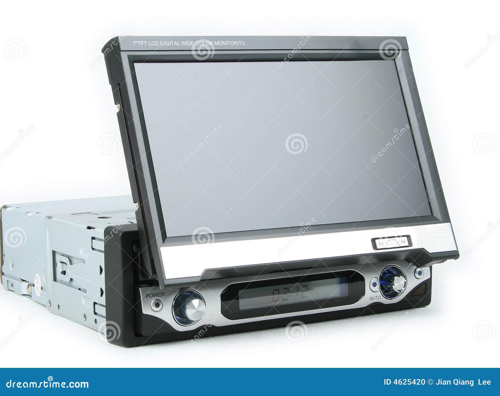 Um monitor do carro