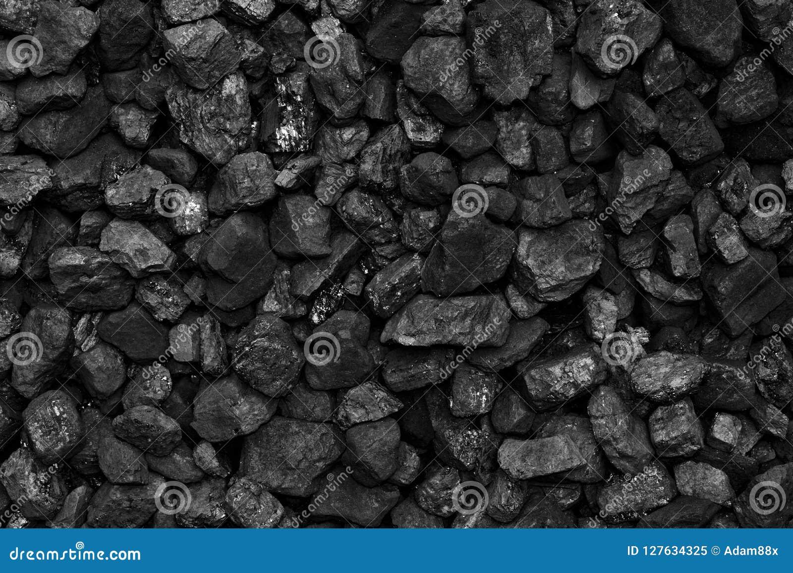 Um montão do fundo natural preto de carvão